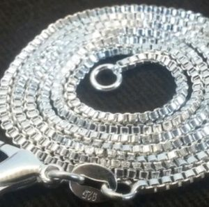 "Jewelry - 22"" sterling silver box chain"